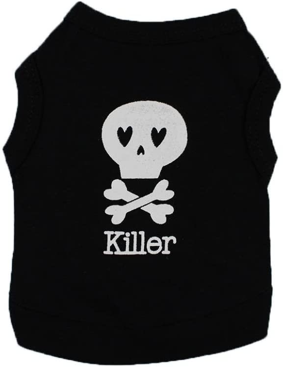 Dog Clothes Wakeu Pet Puppy Killer Pattern T-Shirt Online limited product Apparel Skull Now free shipping