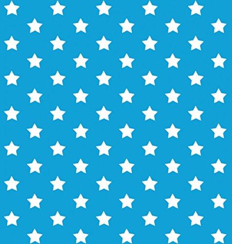Klebefolie - Möbelfolie Stars - Sterne blau - 45 cm x 200 cm moderne Selbstklebefolie Folie Dekorfolie mit Motiv