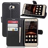 Guran® Funda de Cuero para Huawei Y5 II Pro Smartphone Tirón de la...
