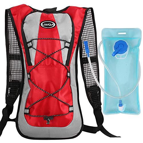 Lixada Mochila de hidratación para bicicleta, con 2 litros de burbuja de agua, para camping, senderismo, equitación, escalada, correr