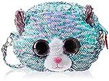 Ty – Bolso bandolera de peluche con lentejuelas – Whimsy el gato TY95133, azul y rosa