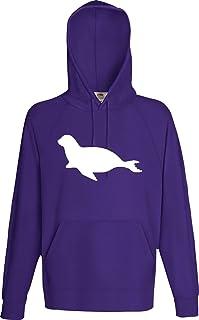 Unbekannt Männer Kaupuzensweatshirt Tiermotiv Robbe, Seehund, Seelöwe