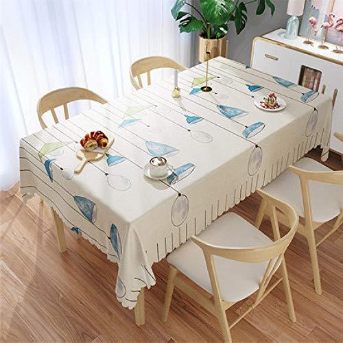 Traann plastic tafelkleed schoon te vegen, Vierkant plastic tafelkleed beschermer olie/vinyl doek alle gelegenheden tafelgerei kroonluchter 140*140