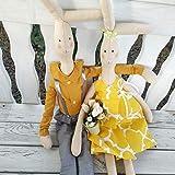 Hase Hase Kinder Spielzeug, Bunny Softie, Neutral Bunny, weiche Baumwolle Bunny, niedlichen Häschen, Ostern, handgemachte Kaninchen Spielzeug, Kuscheltier, Puppe