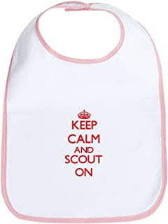 Keep Calm And Scout ON Cloth Baby Bib