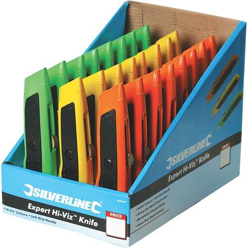 Silverline 868499 Boîte de 24 cutters Expert fluo