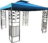 habeig WASSERDICHTER Pavillon TOSKANA 3x3m Metall inkl. Dach Festzelt wasserfest Partyzelt (Marineblau)