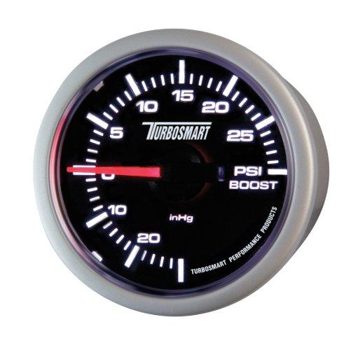 Turbosmart TS-0101-2023 52 mm - 2-1/16' 0-30 PSI Boost Gauge for Gated Boost Control Valves , Black