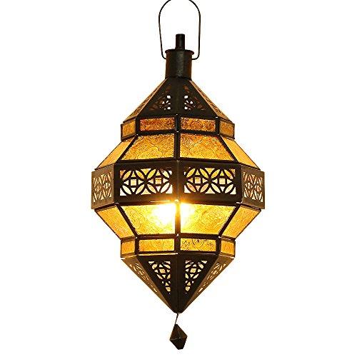 albena Marokko Galerie 13-157 Trob orientalische Lampe Glas/Metall (gelb)