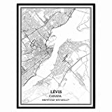 Lévis Kanada Karte Wandkunst Leinwand drucken Poster