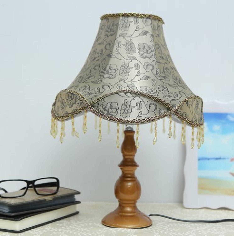 HYW Tischleuchte-Continental einfache LED-Studie Wohnzimmer Schlafzimmer Nachttischlampe stilvolle Kristall kreative Dekoration Energiesparlampe Dimmer,Antiker Druckknopfschalter