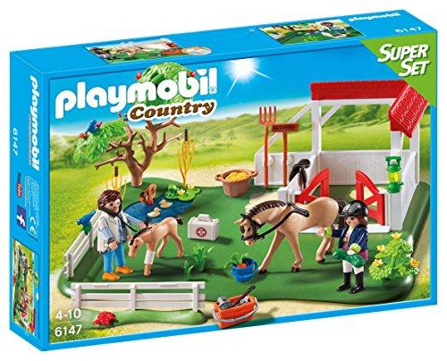 Playmobil 6147 - Superset Clinica dei Pony, Multicolore