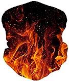 ALISISTER Galaxis Feuer Multifunktionstuch Nahtloses Halstuch Schlauchtuch Schal 3D Druck Kopftuch Stirnband Motorrad Outdoor Halbes Bandana*