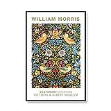 William Morris Vintage Flower Painting Museum Exposición Carteles e impresiones Imágenes artísticas de pared Pinturas en lienzo sin marco A1 60x90cm