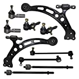 Detroit Axle - 10-Piece Front Suspension Kit for Toyota Camry - 10-Year Warranty - 2 Lower Control Arms & Ball Joint, 4 Inner & Outer Tie Rods & 2 Sway Bar Links…