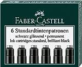 Faber-Castell Cartuchos de tinta estándar, 6 unidades, en caja plegable
