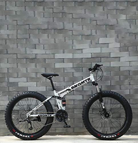 ZGYQGOO Adulti Fat Tire Mountain Bike, Doppio Freno a Disco/Cruiser Bikes, Spiaggia motoslitta Bicicletta, 26 Pollici in Lega di Alluminio Ruote, Uomo Donna General Purpose