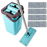 Moppson Flat Mop and Bucket System with Wringer for Floor Cleaning...