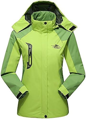 DYF Les Femmes Hommes Down veste Manteau Grande Taille Manches Longues Chapeau Chaud Fermeture éclair,W-Vert,L
