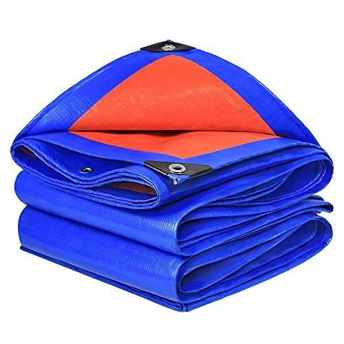 Schaduwnet WDX- Verdikking Verhoging Dubbelzijdig Waterdicht Outdoor Poncho Zonnescherm Plastic Doek Isolatie Canvas Canopy Cover Oranje Blauw Anti-UV