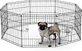 BUNNY BUSINESS 8 Panel Playpen Suitable for Rabbits/ Guineas/ Dogs and Cats, Small, Black