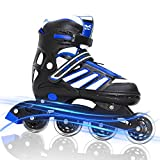 MAXFREE Adjustable Inline Skates, Fitness Rollerblades with...