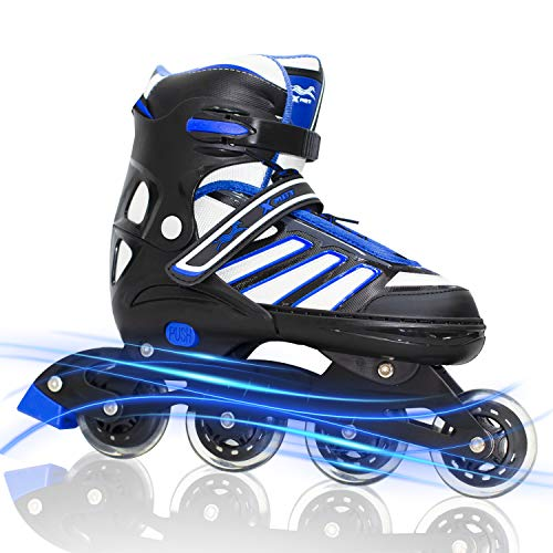MAXFREE Adjustable Inline Skates, Fitness Roller Skates with High-Performance Wheels for Adults & Teen, Outdoor & Indoor