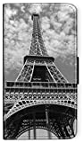 Flip Case Boutique Paris kompatibel für iPhone 6 6s Eifelturm Black Handy Hülle Tasche Klapphülle Brieftasche Etui rund um Schutz Wallet M5