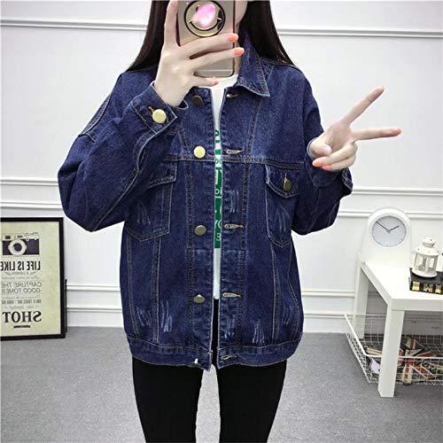 NZJK Vintage vrouwen jeansjas lente dames bomberjack losse wilde jeans jas vrouwen Harajuku student vrouwelijke mantel