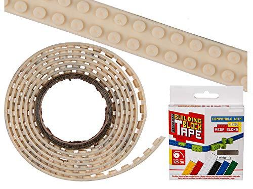 Bada Bing DIY Flexibles Bausteine Tape Creme BEIGE Ca. 125 cm Selbstklebend Silikon Klebeband Bauplatten Kompatibel Schneidbar 94