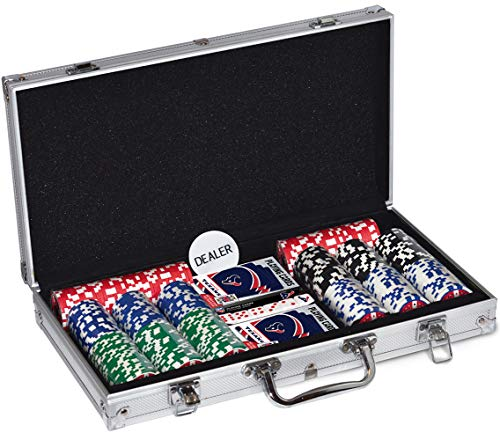 MasterPieces NFL Houston Texans 300-Piece Poker Chip Set, Team Colors, one Size (HOT3153)