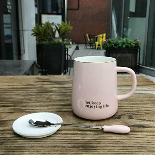 QAZWSX Keramik-Becher Eine Einfache Und Elegante Kaffeetasse Personality Paar Keramik-Becher Innenministerium Kaffeetasse Licht Und Luxuriöse Einzigartige Geschenk