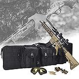 HNWTKJ Double Rifle Bag, Tactical Double Long Rifle Pistol Gun Case, Lockable Pouches Compartments, Verfügbar für Magazinspeicher und andere Werkzeuge (Size : 120CM)