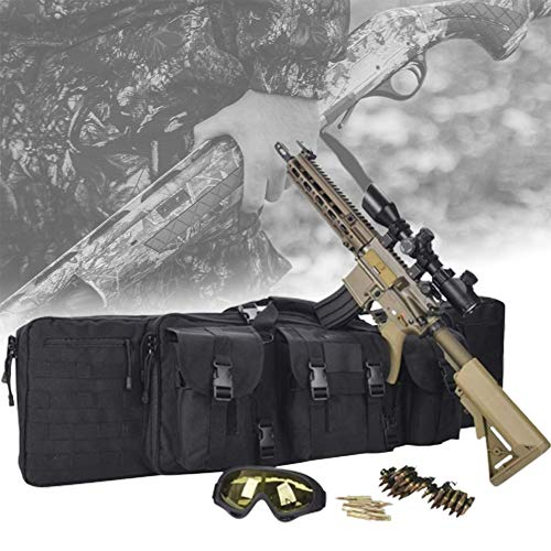 HNWTKJ Gun Bag Imbottita Doppia Carabina Fucile di Canna da Pesca Borsa Zaino Fucile Caccia, Regalo Perfetto per Collezionisti di Armi e Appassionati di Pesca (Size : 120CM)