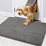 Color&Geometry Door Mat 50 X 80 cm, Doormat Dirt Trapper Non-slip, Machine Washable, Soft, Absorbent Entrance Rug Floor Mat for Eneryway, Patio, Hallway, Garden, Indoor and Outdoor (Grey)