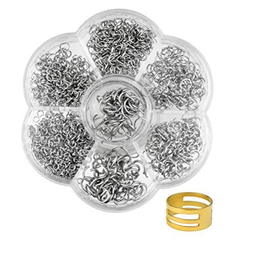 Jerbro Ohrringe, ca. 1000 Stück, für Modeschmuck, Halsketten, Ohrringe, Durchmesser 4 mm, 5 mm, 6 mm, 8 mm, 9 mm, 10 mm, Schmuckzubehör