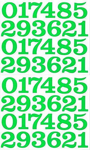 (シャシャン)XIAXIN 防水 PVC製 数字 ナンバー ステッカー セット 耐候 耐水 ローマ字 数字 キャラクター 表札 スーツケース ネームプレート ロッカー 屋内外 兼用 TS-137 (2点, グリーン)