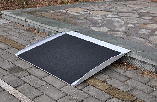 Aluminium Alurampe Rollstuhl Rampe Auffahrrampe für Rollstühle Rollatoren 122cm