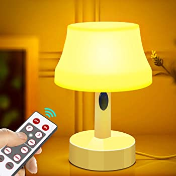 Table Night Light for Kid Cute Silicone Desktop Lamp with 2 Color Light and Adjustable Brightness