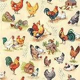 Nutex, Stoff mit Hühnermuster Chicken Talk, 0,5 m, 100 %