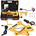 Electric Car Floor Jack All-in-one Automatic 12V Scissor Lift Jack Set for Sedans SUV w/Remote Tire Change Repair Emergency Tool Kits Floor Jack for Vehicle Truck Van Wheel Change