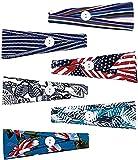 Geebuzz 6 paquetes de bandas deportivas para el cabello que absorbe la humedad, unisex, antideslizantes, ligeras, para correr, paquete de 6 botones