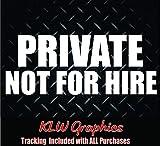 Private Not for Hire Vinyl Decal Sticker Car Diesel Truck Trailer Semi 1500 DOT