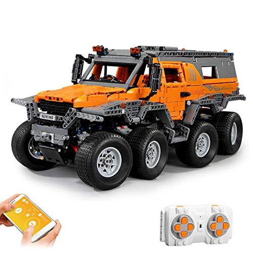 Gettesy 2578 bloques de construcción para coche teledirigido, 1:8, 2,4 G, modelo de coche de carreras para Siberia, todoterreno, compatible con Lego Technic