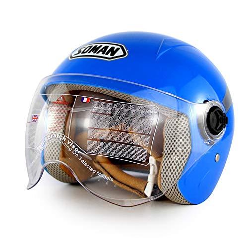 FYBAO Kinder Helm Rutsche Balance Auto Schutzausrüstung Helm Integralhelm Code Reiten (48-56cm),Blau