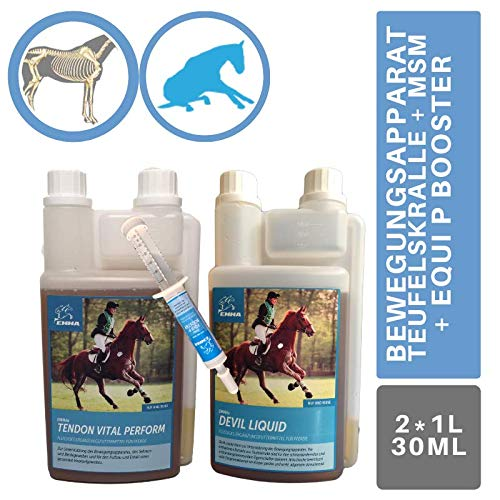 Emma Joint Active I Set Devil's Claw MSM Glucosamine Chondroitin Willow Bark I Joint Bands Tendons I Liquid + Paste Supports Mobility Joint Function Moving System 1 L 1 L 30 ml