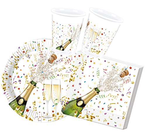 Procos 10117000 Partyset Silvester Champagne