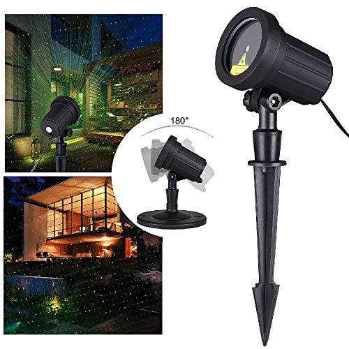 monzana LED Gartenbeleuchtung Lichteffekt für In-/Outdoor Beleuchtung Projektor schwenkbar Projektionslampe