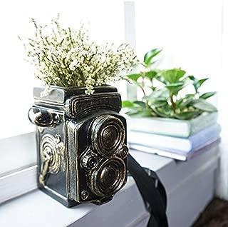 Handmade Ceramic Home/ Garden Vintage Camera Design Flower Planter Bonsai Pot