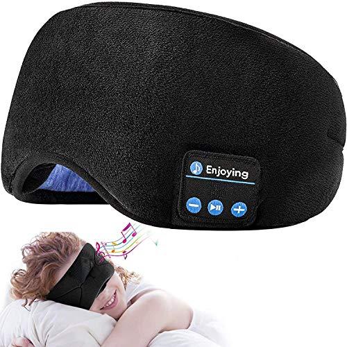 Sleep Headphones Auriculares Deportivos inalámbricos con Bluetooth y Diadema con parlantes estéreo HD ultrafinos Dormir, Hacer Ejercicio, Trotar, Yoga, insomnio, meditación(Negro)